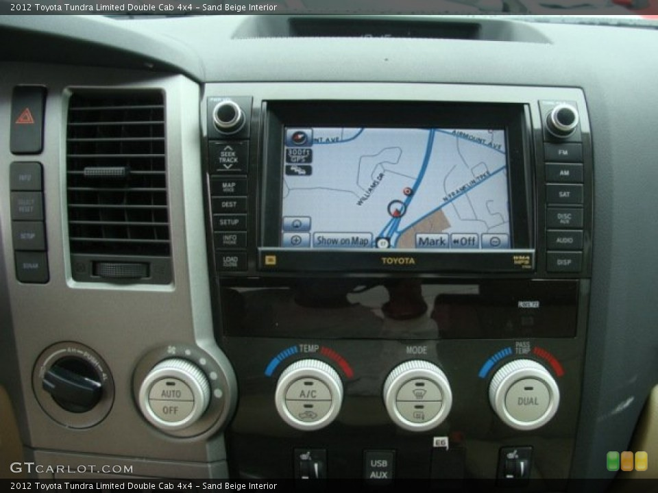 Sand Beige Interior Navigation for the 2012 Toyota Tundra Limited Double Cab 4x4 #72658040