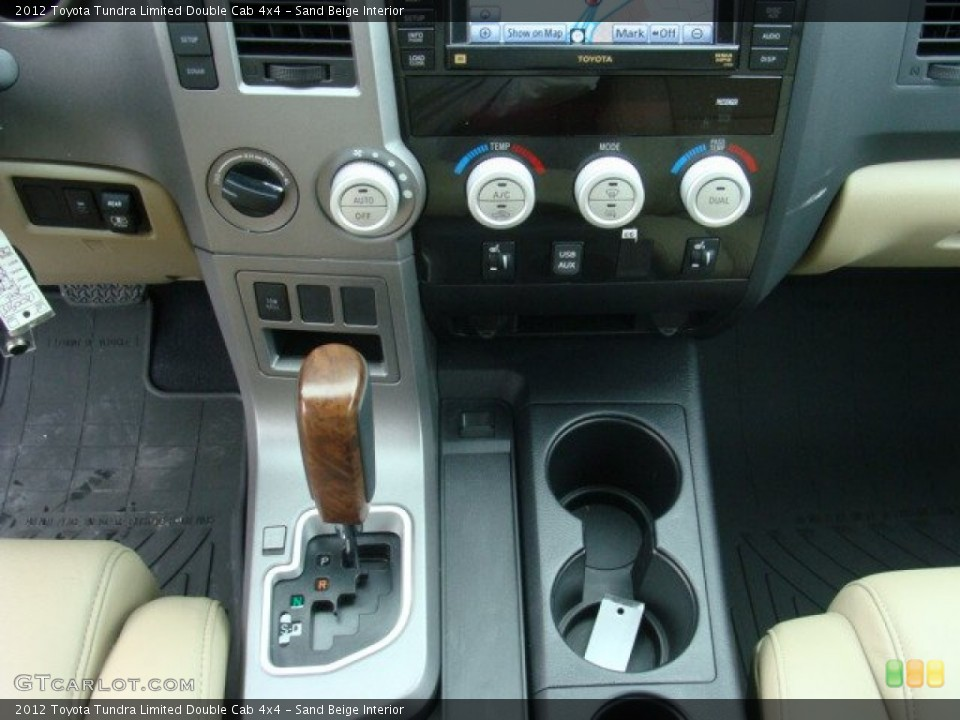 Sand Beige Interior Transmission for the 2012 Toyota Tundra Limited Double Cab 4x4 #72658061