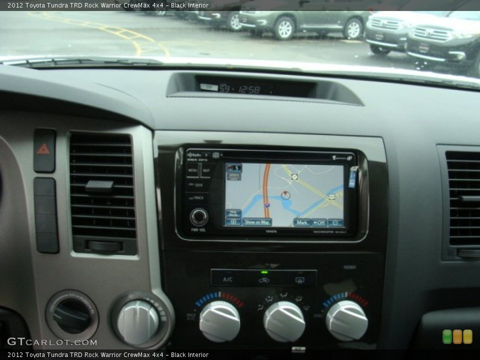 Black Interior Navigation for the 2012 Toyota Tundra TRD Rock Warrior CrewMax 4x4 #72690648