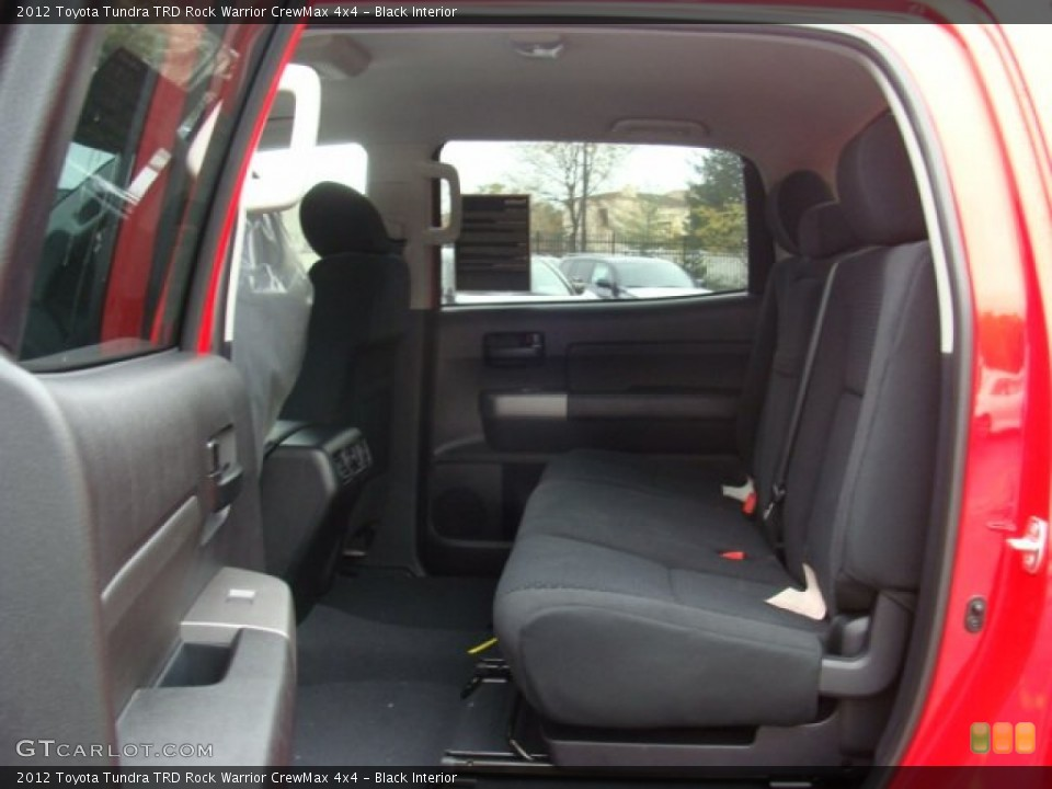 Black Interior Rear Seat for the 2012 Toyota Tundra TRD Rock Warrior CrewMax 4x4 #72690679