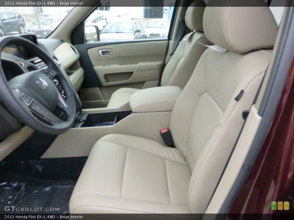 Beige Interior Front Seat for the 2013 Honda Pilot EX-L 4WD #72701386