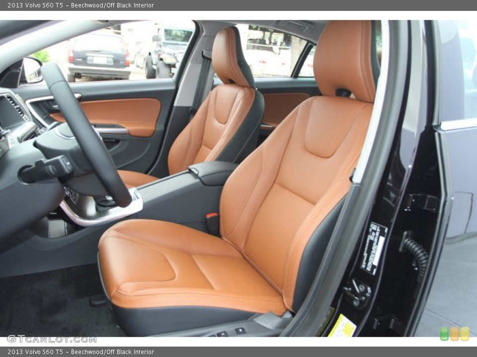 Beechwood/Off Black 2013 Volvo S60 Interiors