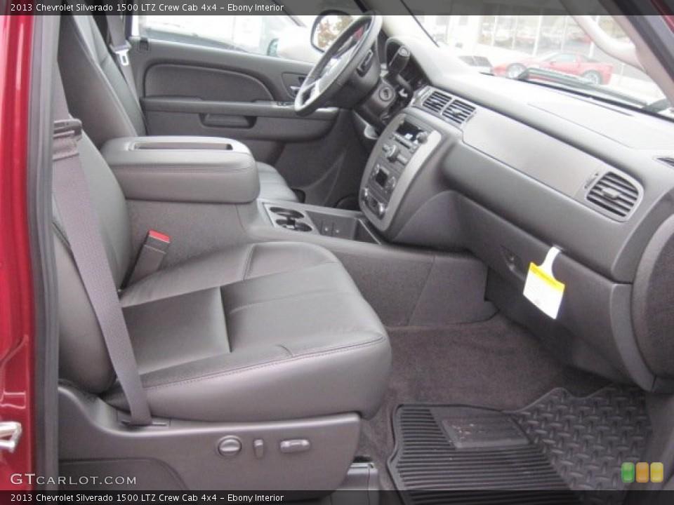Ebony Interior Photo for the 2013 Chevrolet Silverado 1500 LTZ Crew Cab 4x4 #72745884
