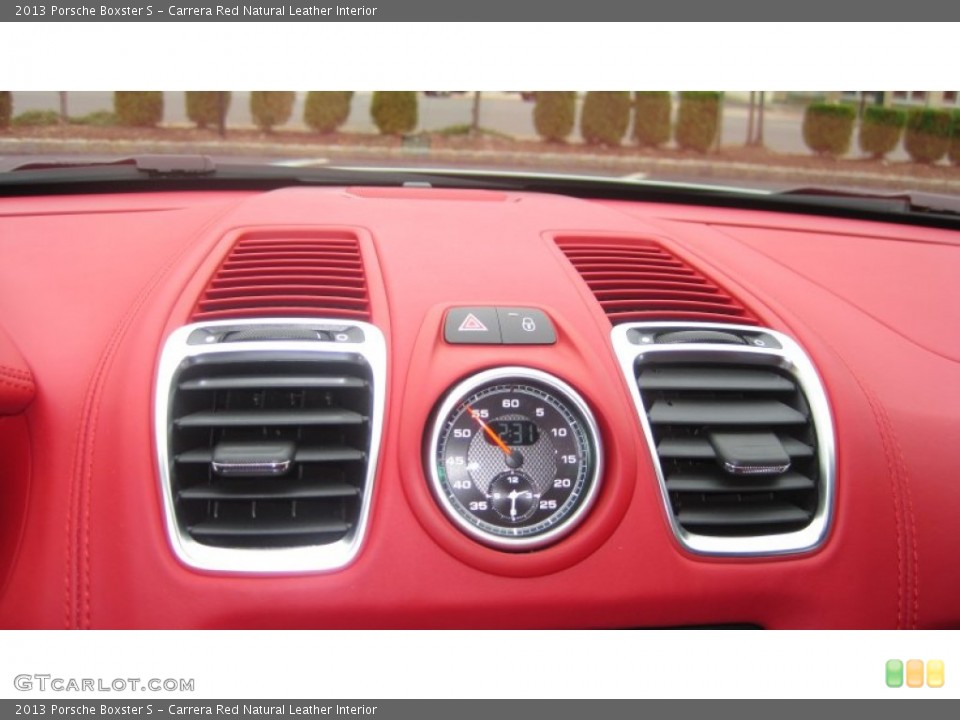 Carrera Red Natural Leather Interior Gauges for the 2013 Porsche Boxster S #72748160