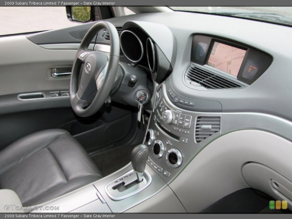 Slate Gray 2009 Subaru Tribeca Interiors