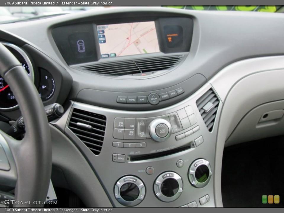 Slate Gray Interior Controls for the 2009 Subaru Tribeca Limited 7 Passenger #72801305