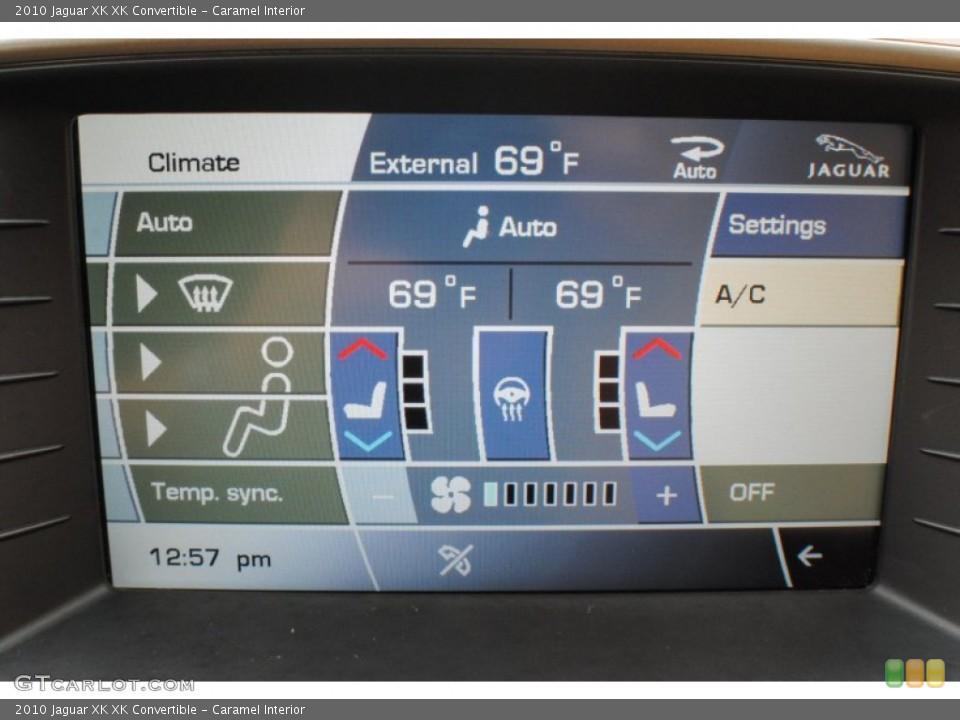 Caramel Interior Controls for the 2010 Jaguar XK XK Convertible #72859029