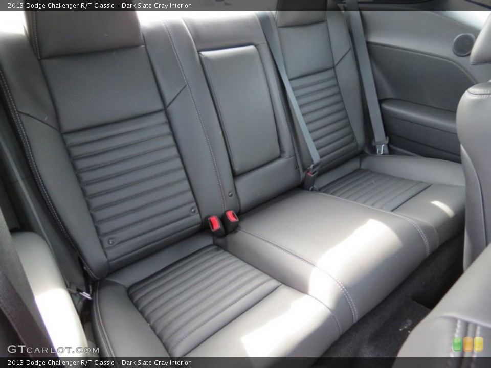 Dark Slate Gray Interior Rear Seat for the 2013 Dodge Challenger R/T Classic #72935863