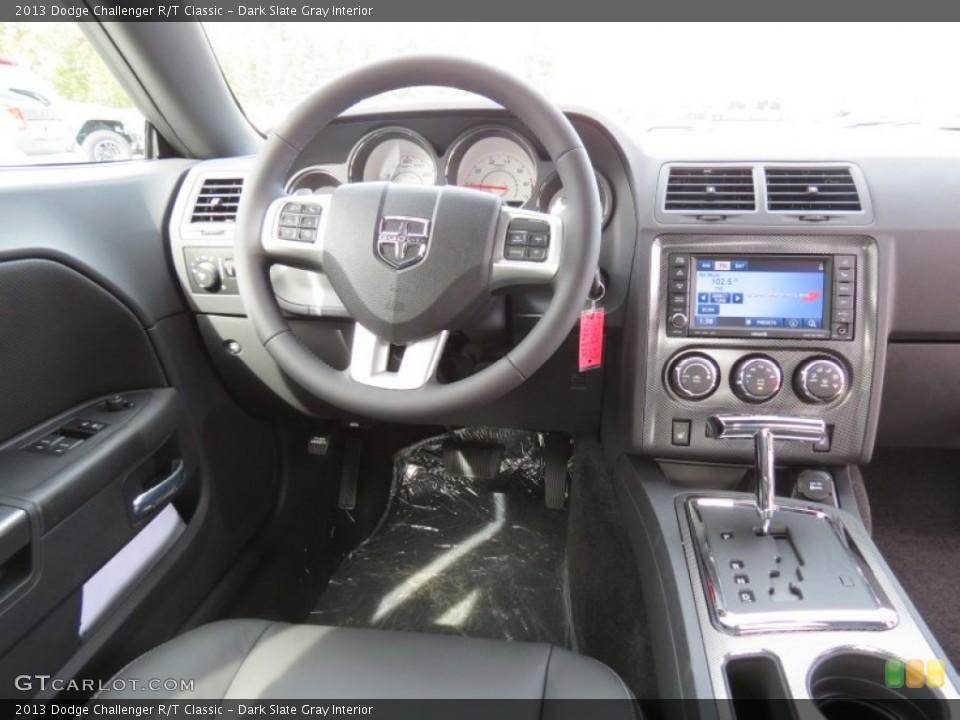 Dark Slate Gray Interior Dashboard for the 2013 Dodge Challenger R/T Classic #72935896