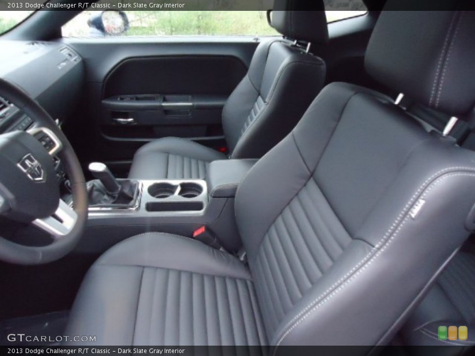 Dark Slate Gray Interior Front Seat for the 2013 Dodge Challenger R/T Classic #72984183
