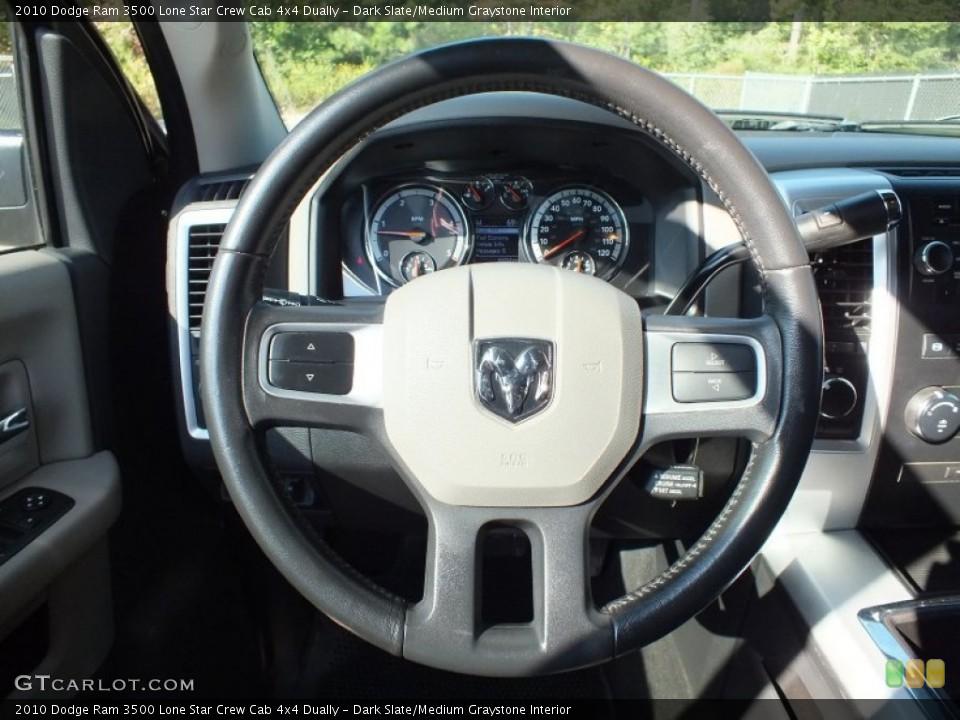 Dark Slate/Medium Graystone Interior Steering Wheel for the 2010 Dodge Ram 3500 Lone Star Crew Cab 4x4 Dually #73153629