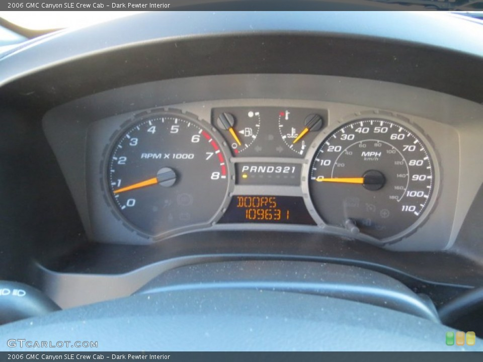 Dark Pewter Interior Gauges for the 2006 GMC Canyon SLE Crew Cab #73238505