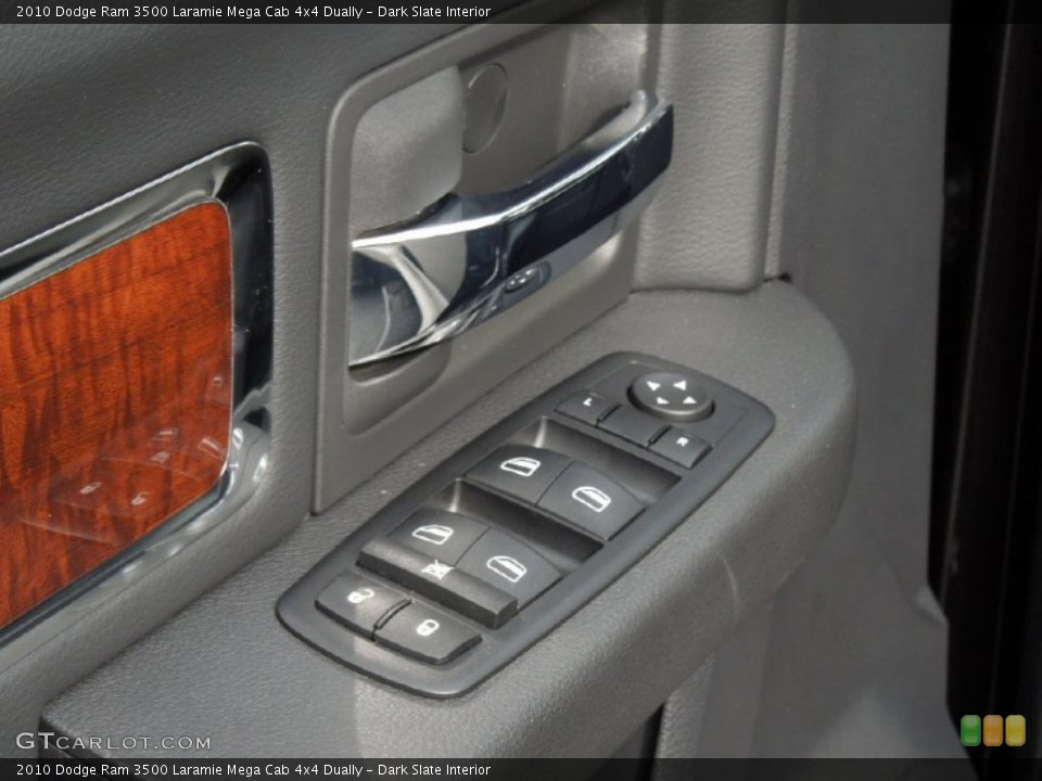 Dark Slate Interior Controls for the 2010 Dodge Ram 3500 Laramie Mega Cab 4x4 Dually #73246273
