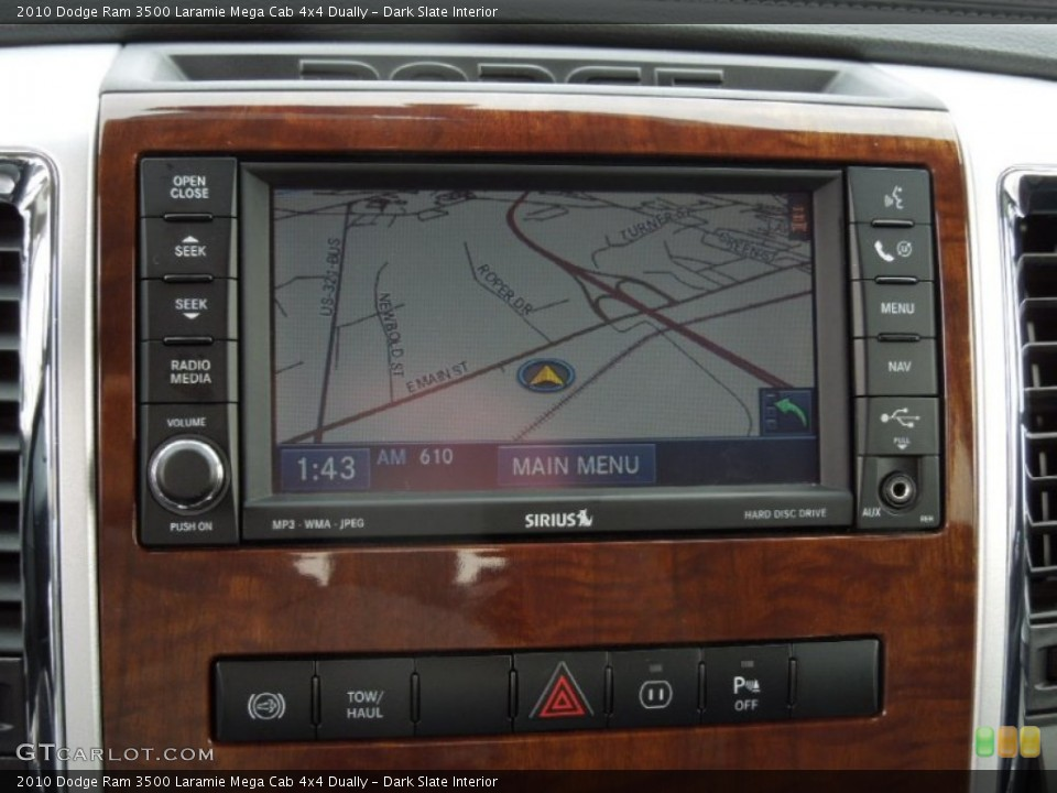 Dark Slate Interior Navigation for the 2010 Dodge Ram 3500 Laramie Mega Cab 4x4 Dually #73246344
