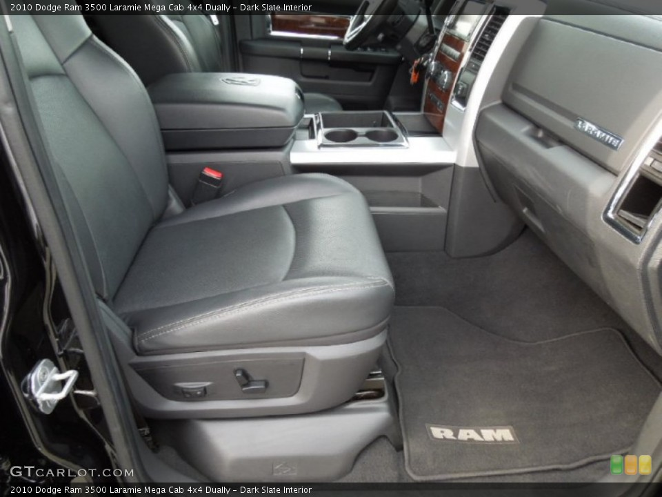 Dark Slate Interior Front Seat for the 2010 Dodge Ram 3500 Laramie Mega Cab 4x4 Dually #73246575