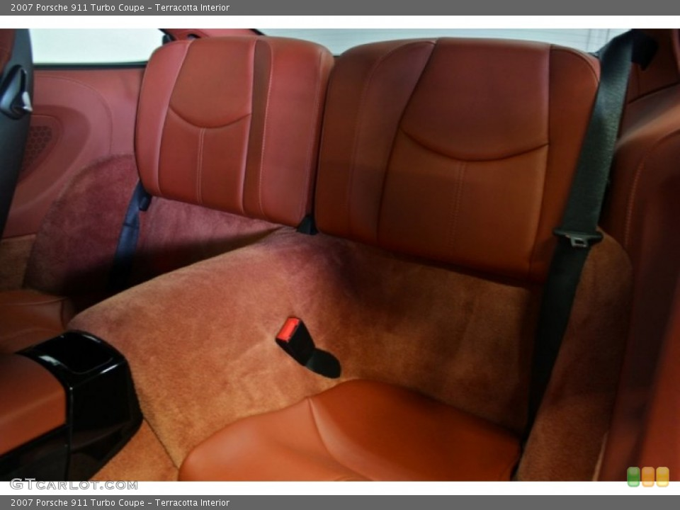 Terracotta Interior Rear Seat for the 2007 Porsche 911 Turbo Coupe #73370948