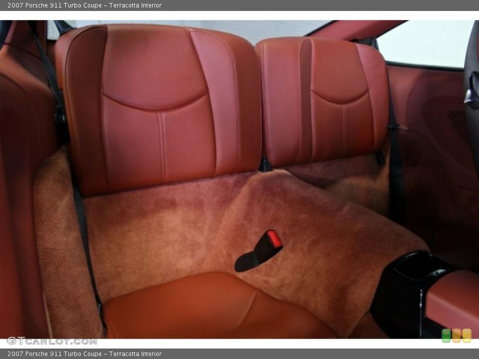 Terracotta Interior Rear Seat for the 2007 Porsche 911 Turbo Coupe #73370966