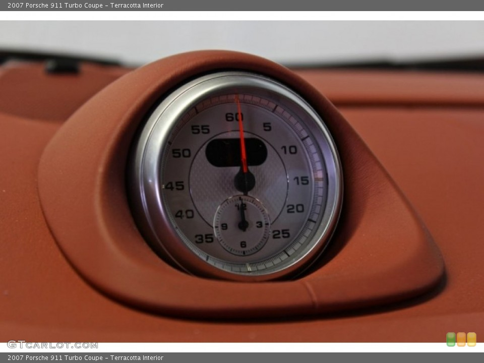 Terracotta Interior Gauges for the 2007 Porsche 911 Turbo Coupe #73371106
