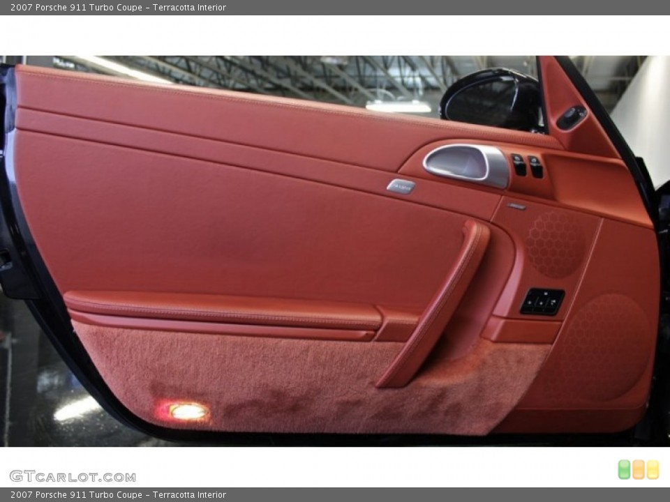 Terracotta Interior Door Panel for the 2007 Porsche 911 Turbo Coupe #73371140