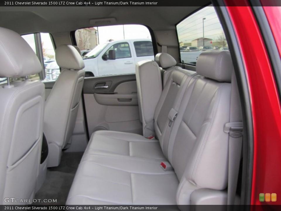 Light Titanium/Dark Titanium Interior Rear Seat for the 2011 Chevrolet Silverado 1500 LTZ Crew Cab 4x4 #73377190