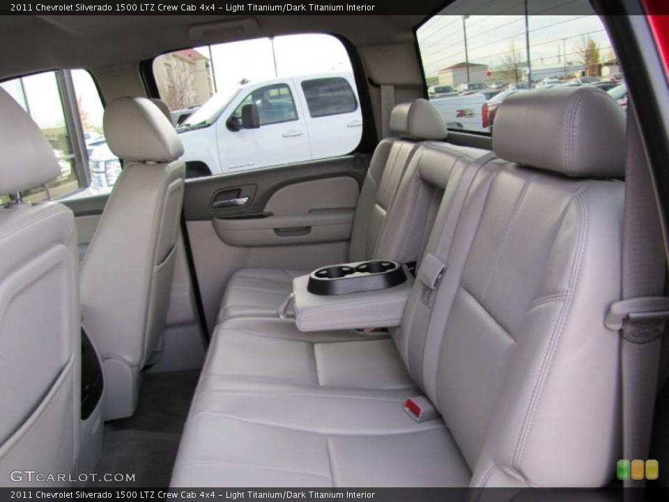 Light Titanium/Dark Titanium Interior Rear Seat for the 2011 Chevrolet Silverado 1500 LTZ Crew Cab 4x4 #73377215