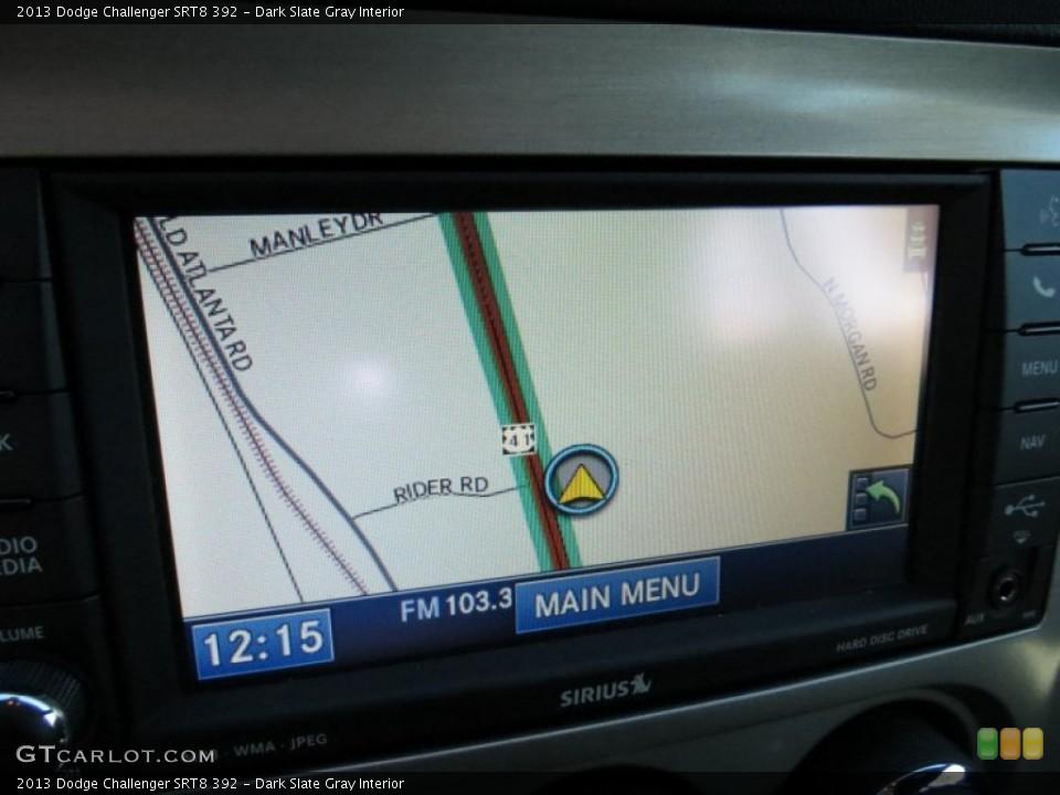 Dark Slate Gray Interior Navigation for the 2013 Dodge Challenger SRT8 392 #73503860