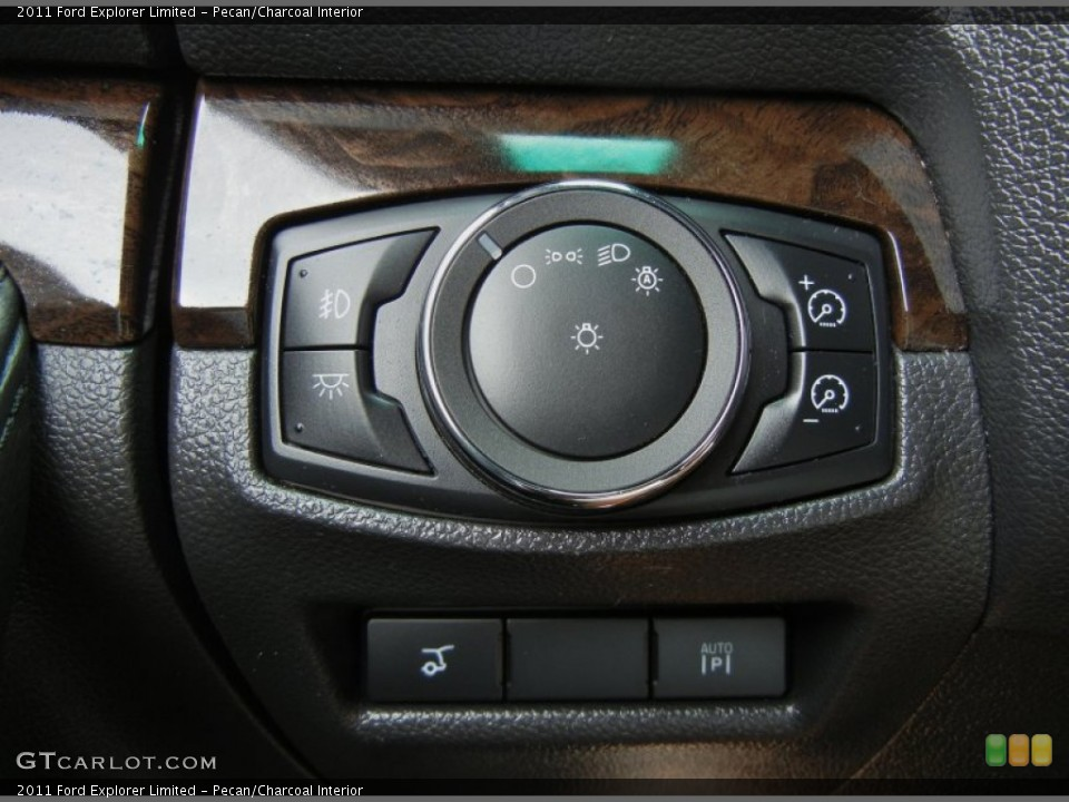 Pecan/Charcoal Interior Controls for the 2011 Ford Explorer Limited #73550300