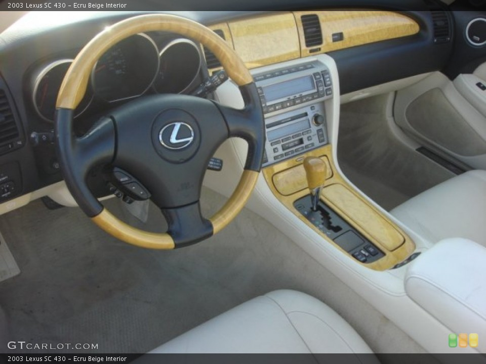 Ecru Beige 2003 Lexus SC Interiors