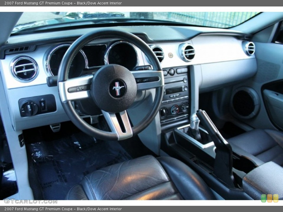Black/Dove Accent 2007 Ford Mustang Interiors