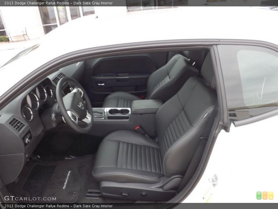 Dark Slate Gray Interior Front Seat for the 2013 Dodge Challenger Rallye Redline #73741259