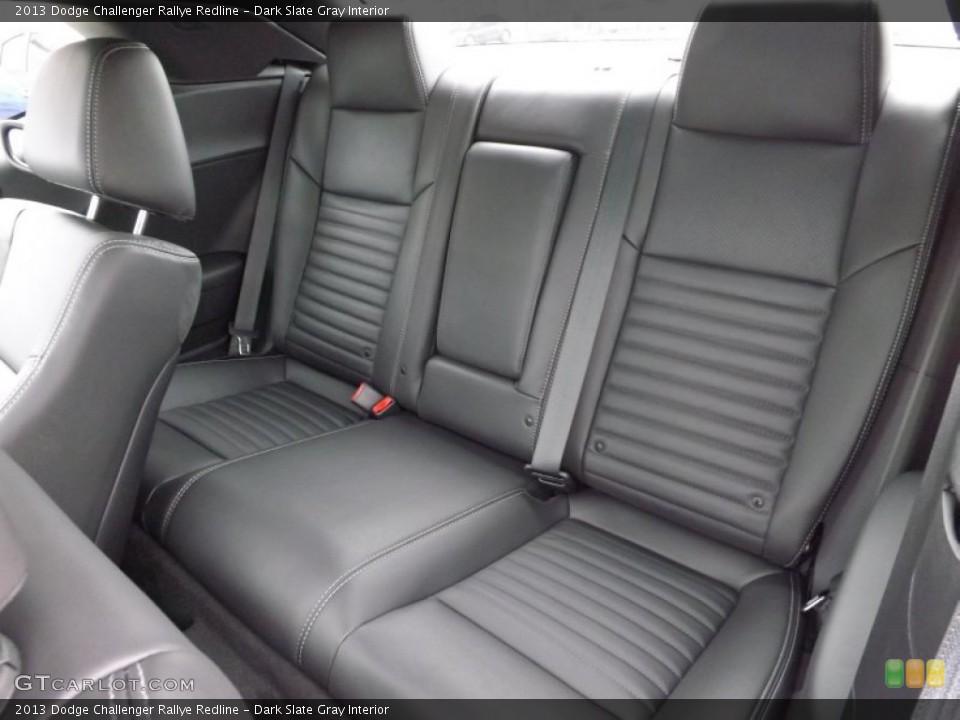 Dark Slate Gray Interior Rear Seat for the 2013 Dodge Challenger Rallye Redline #73741298