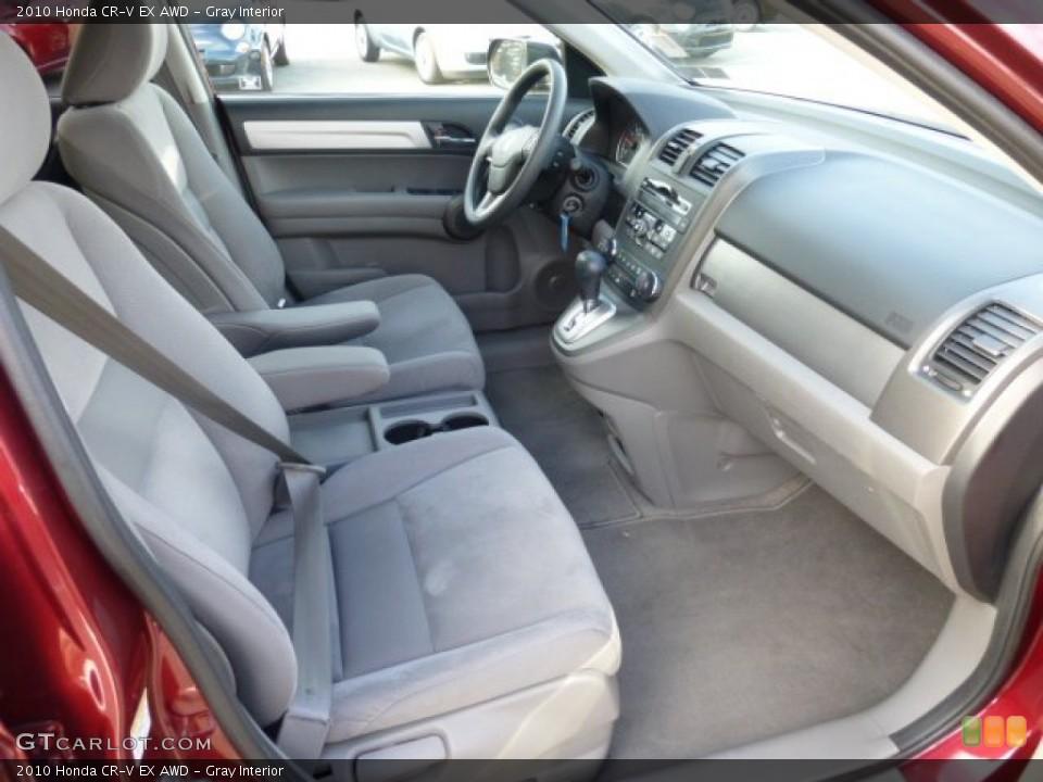Gray Interior Photo for the 2010 Honda CR-V EX AWD #73812980