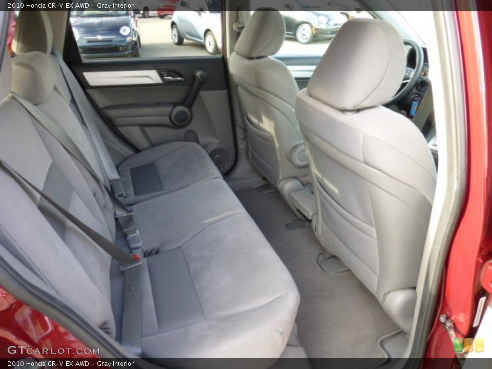 Gray Interior Rear Seat for the 2010 Honda CR-V EX AWD #73813020