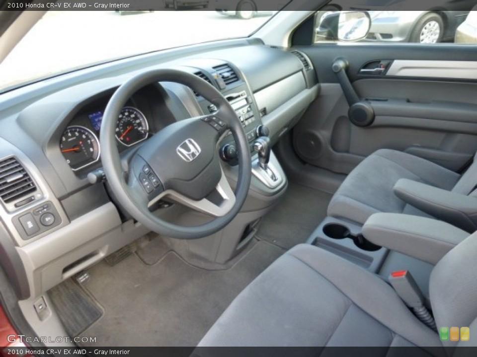 Gray Interior Prime Interior for the 2010 Honda CR-V EX AWD #73813094