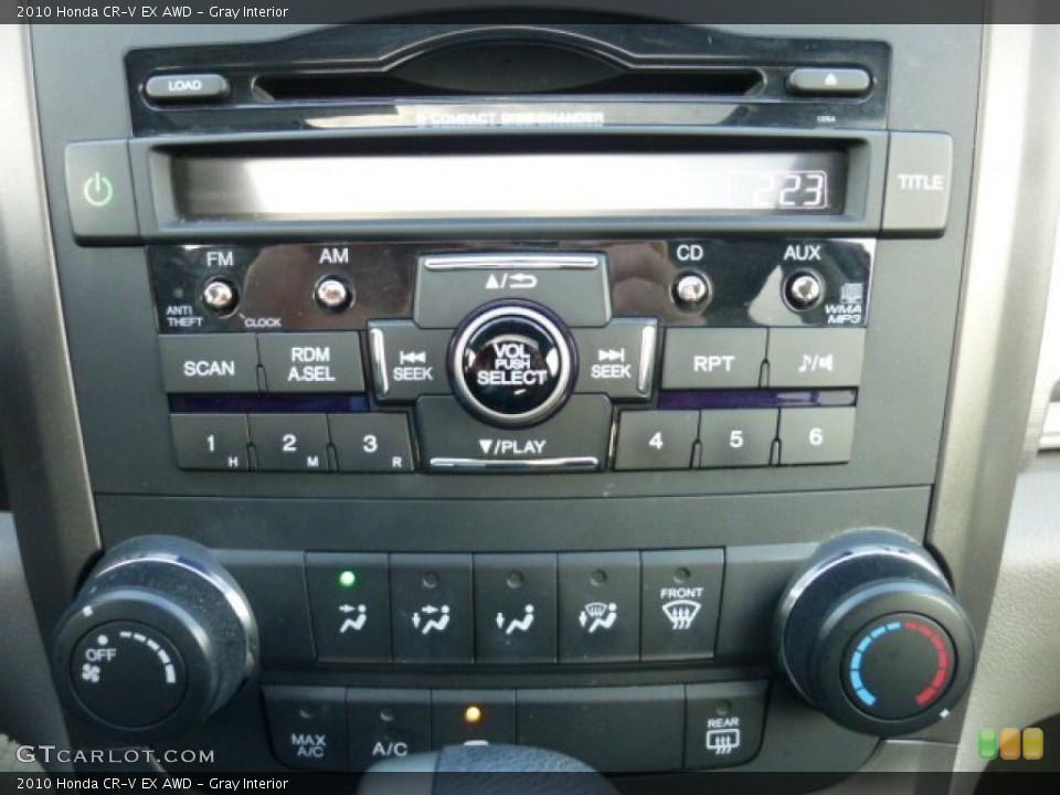 Gray Interior Controls for the 2010 Honda CR-V EX AWD #73813125
