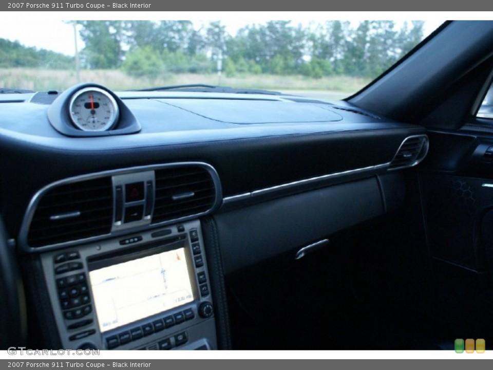 Black Interior Dashboard for the 2007 Porsche 911 Turbo Coupe #73817084