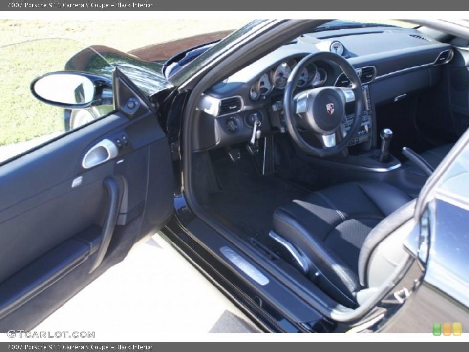Black Interior Photo for the 2007 Porsche 911 Carrera S Coupe #73820236