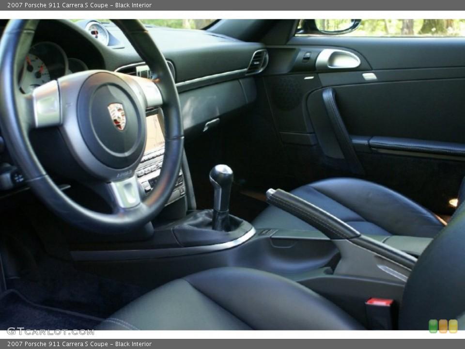Black Interior Photo for the 2007 Porsche 911 Carrera S Coupe #73820338