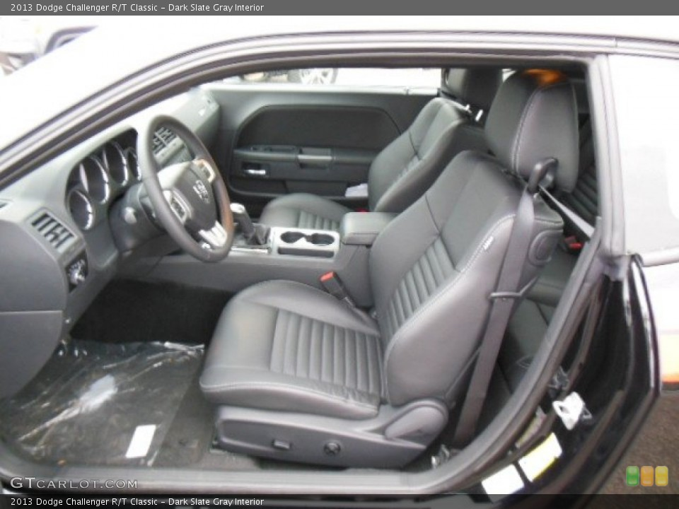 Dark Slate Gray Interior Front Seat for the 2013 Dodge Challenger R/T Classic #73887587