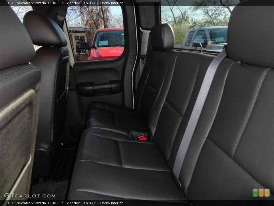 Ebony Interior Rear Seat for the 2013 Chevrolet Silverado 1500 LTZ Extended Cab 4x4 #73891835