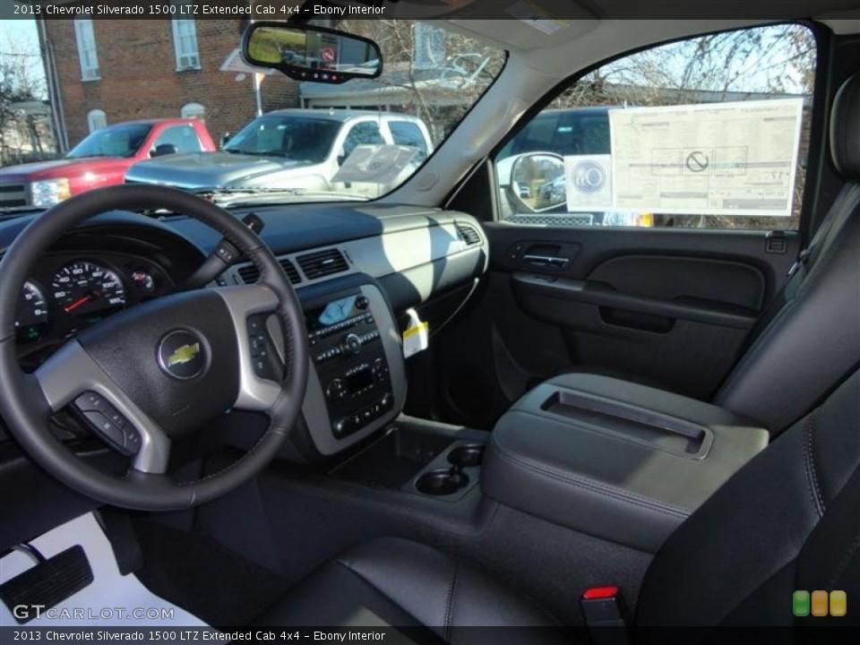 Ebony Interior Photo for the 2013 Chevrolet Silverado 1500 LTZ Extended Cab 4x4 #73891850