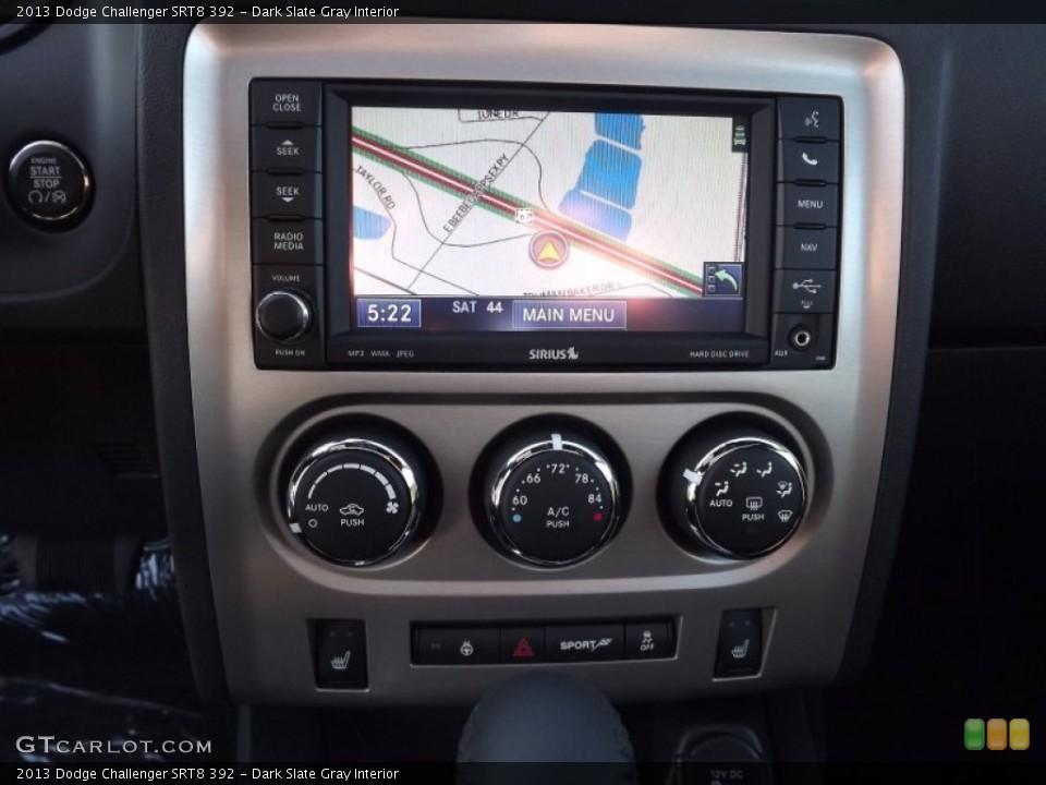 Dark Slate Gray Interior Navigation for the 2013 Dodge Challenger SRT8 392 #74000343