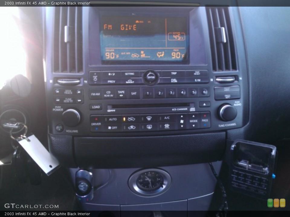 Graphite Black Interior Controls for the 2003 Infiniti FX 45 AWD #74015703