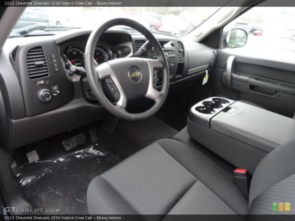 Ebony Interior Photo for the 2013 Chevrolet Silverado 1500 Hybrid Crew Cab #74034593