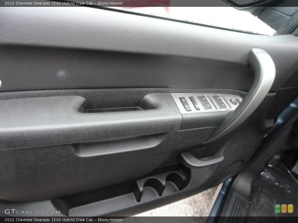 Ebony Interior Door Panel for the 2013 Chevrolet Silverado 1500 Hybrid Crew Cab #74034603
