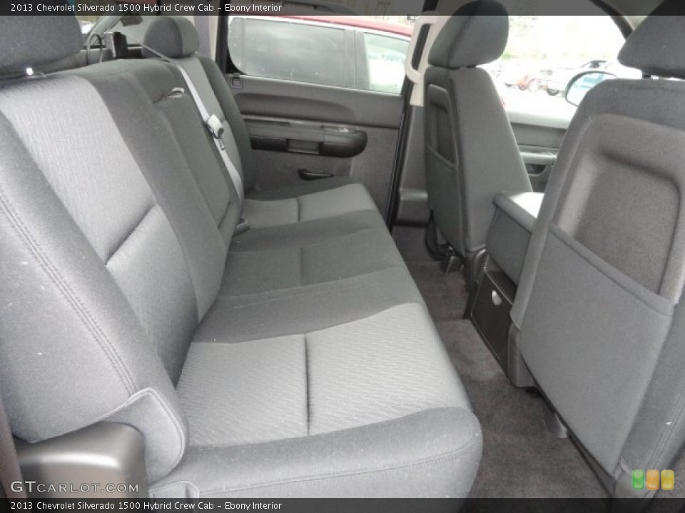 Ebony Interior Rear Seat for the 2013 Chevrolet Silverado 1500 Hybrid Crew Cab #74034675
