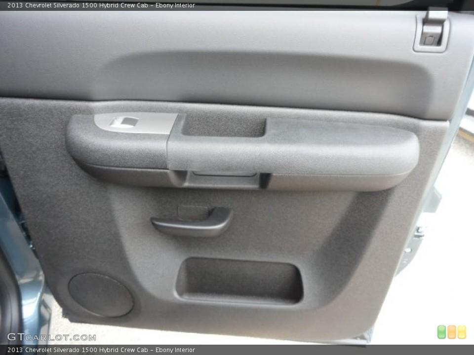 Ebony Interior Door Panel for the 2013 Chevrolet Silverado 1500 Hybrid Crew Cab #74034688