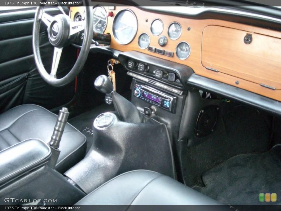 Black Interior Dashboard For The 1976 Triumph Tr6 Roadster 74081843