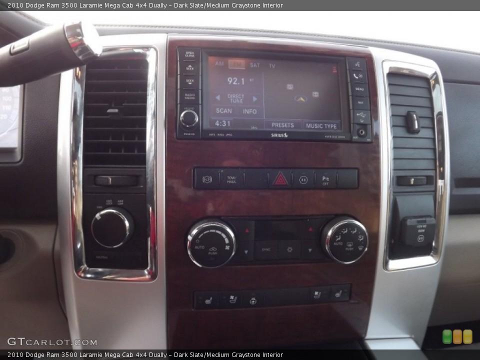 Dark Slate/Medium Graystone Interior Controls for the 2010 Dodge Ram 3500 Laramie Mega Cab 4x4 Dually #74159448