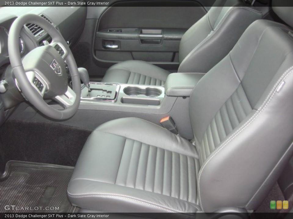 Dark Slate Gray Interior Front Seat for the 2013 Dodge Challenger SXT Plus #74165660